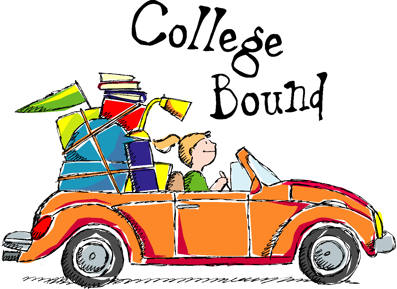 going to college clipart 1